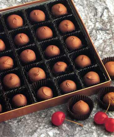 Picture of box of chreeie cordials.