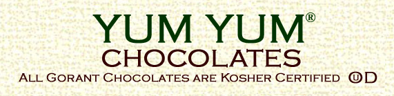 Yum Yum chocolates banner.