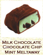 Milk chocolate and chocolate chip mint meltaway. Click on the add flavor button to add.
