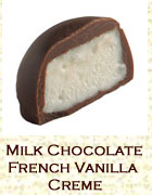 Milk chocolate french vanilla creme. Click on the add flavor button to add.