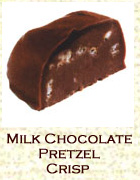 Milk chocolate pretzel crisp. Click on the add flavor button to add.