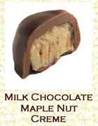 Milk chocolate maple nut creme. Click on the add flavor button to add.