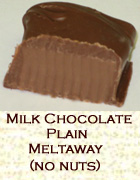 Milk chocolate plain meltaway, no nuts. Click on the add flavor button to add.